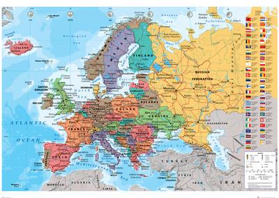 European Map Prints