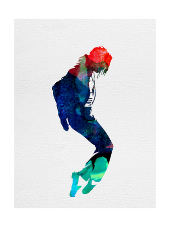 Michael Watercolor Poster by Lora Feldman