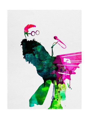 Elton Watercolor Print by Lora Feldman