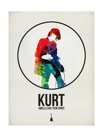Kurt Watercolor Poster by David Brodsky