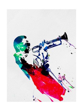 Miles Watercolor Metal Üzerine Reprodüksiyon