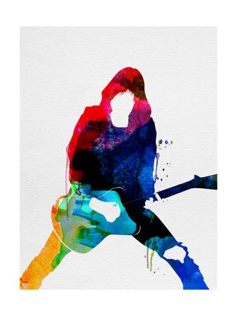 Johnny Watercolor Plakater af Lora Feldman