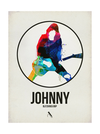 Johnny Watercolor Circle Posters by David Brodsky
