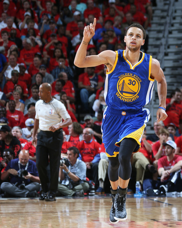 Stephen Curry playing against the New Orleans Pelicans - Game 3 of the 2015 NBA Playoffs photo poster by Layne Murdoch Jr
