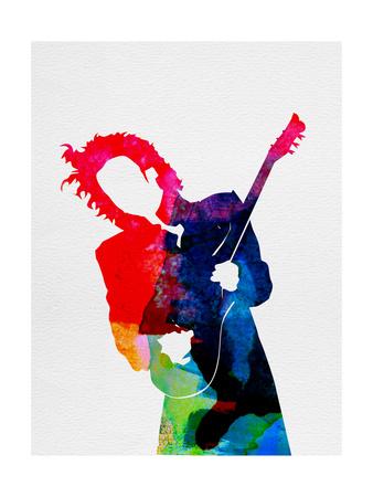 Prince Watercolor Prints by Lora Feldman