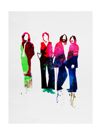Beatles Watercolor Prints by Lora Feldman