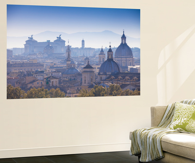 Italy, Lazio, Rome, View Looking Towards Vittorio Emanuele Ii Monument Wall Mural by Jane Sweeney