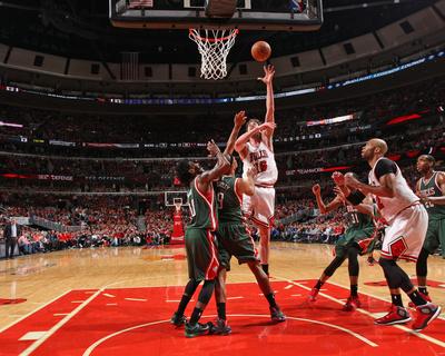 Milwaukee Bucks v Chicago Bulls- Game One Photo by Gary Dineen