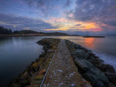 Sunrise Pier at Fort Baker, Sausalito California Lámina en metal