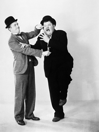 Oliver Hardy; Stan Laurel Photographic Print
