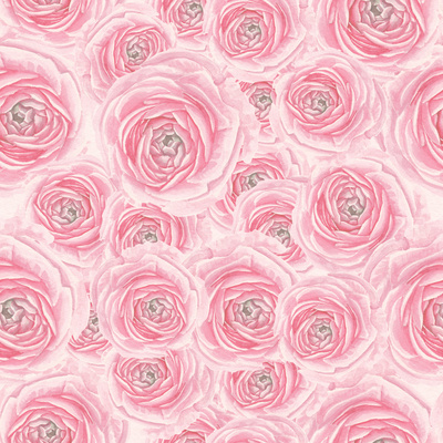 Watercolor Rose Pattern Posters by  lenavetka87