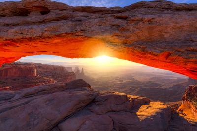 Mesa Arch at Sunrise Photographic Print by Dean Fikar