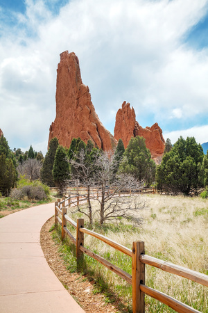 Garden of the Gods in Colorado Springs Photographic Print by  photo ua