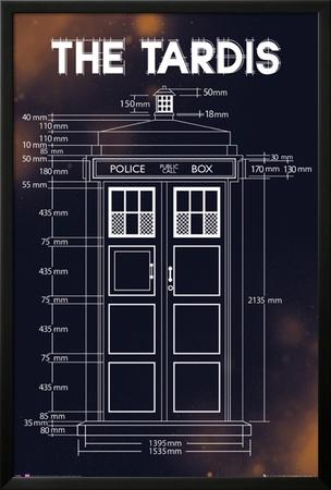 Doctor Who - Tardis Plans Prints