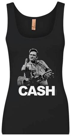 Tank Top: Johnny Cash - The Bird Tank Top