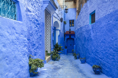 Traditional Moroccan Architectural Details in Chefchaouen, Morocco, Africa Photographic Print by  Pagina