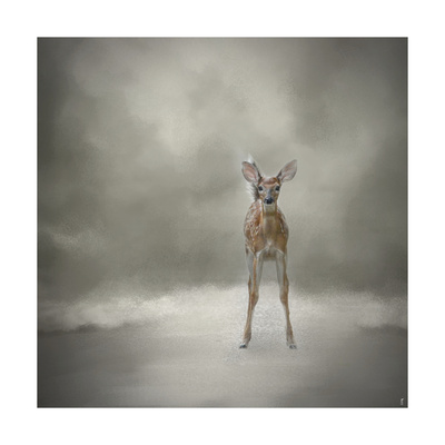 Stand Strong Little Fawn Giclee Print by Jai Johnson