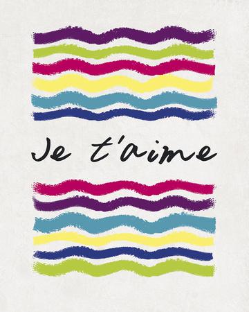 Je T'aime Prints by Sasha Blake