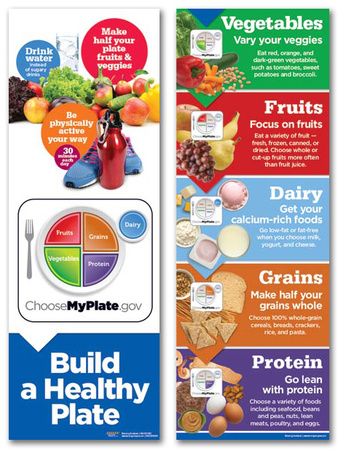Myplate Build A Healthy Plate Poster Set Posters
