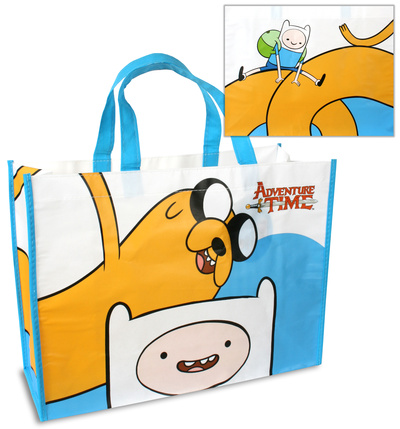 Adventure Time Large Recycled Shopper Tote Bag