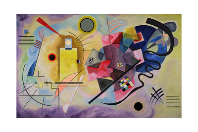 Yellow, Red, Blue, 1925 Giclée-tryk af Wassily Kandinsky