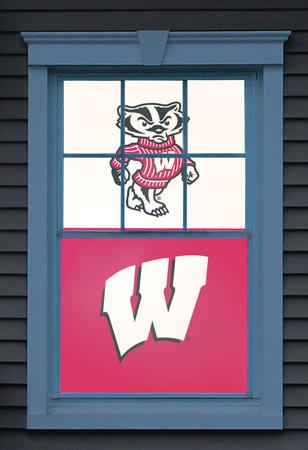 University of Wisconsin Bucky Badger Dual WOWindow Poster Window Decal
