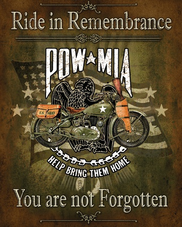 Ride in Rememberance Tin Sign