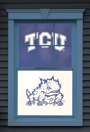 Texas Christian University Horned Frog Dual WOWindow Poster Window Decal