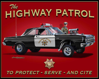 Highway Patrol Tin Sign