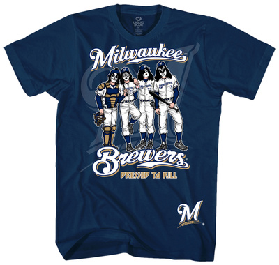 MLB/Kiss-Kiss/Brewers Dressed Shirt