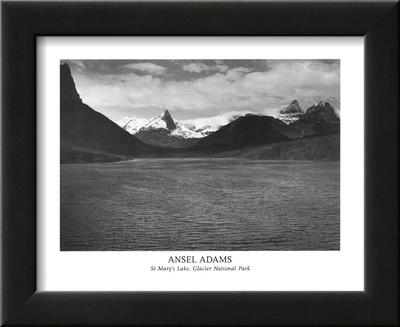 St Mary's Lake Glacier National Park Print by Ansel Adams