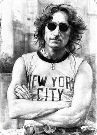 Lennon Portrait Tin Sign