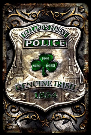 Irish Police Tin Sign