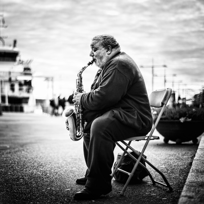 Sax Photographic Print by Marius Noreger