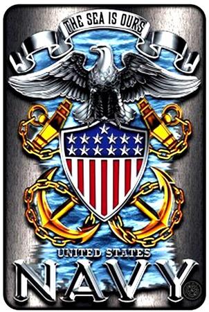 Navy Tin Sign