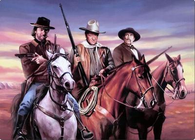Wayne, Eastwood, Van Cleef Tin Sign