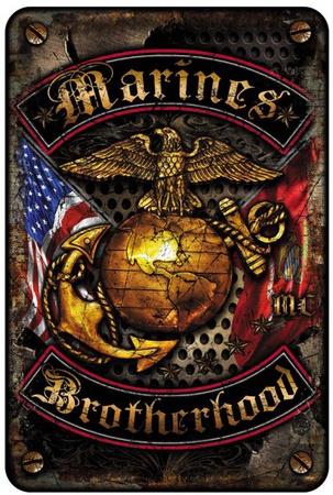 Marines Brotherhood Tin Sign
