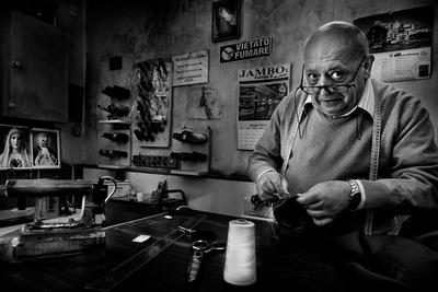 Mr. Giovanni, the Tailor. Photographic Print by Antonio Grambone