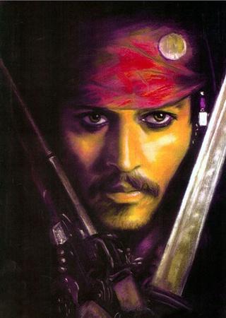 Pirate Depp Portrait Tin Sign
