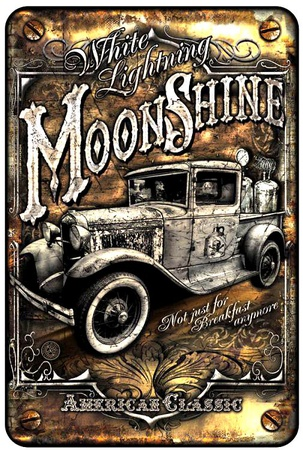 Moonshine Truck Tin Sign