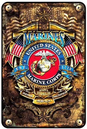 Marines Est. 1775 Tin Sign