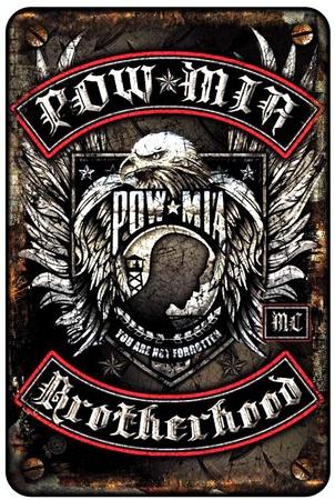 POW - MIA Tin Sign