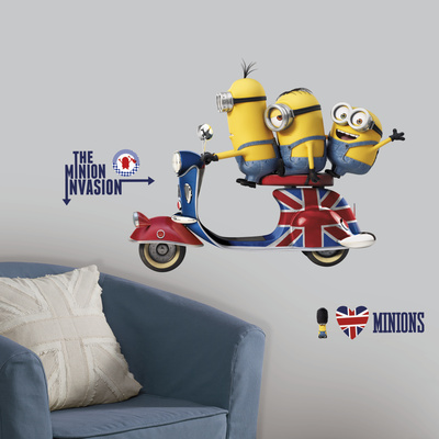 Minions The Movie Peel and Stick Giant Wall Decals Wall Decal