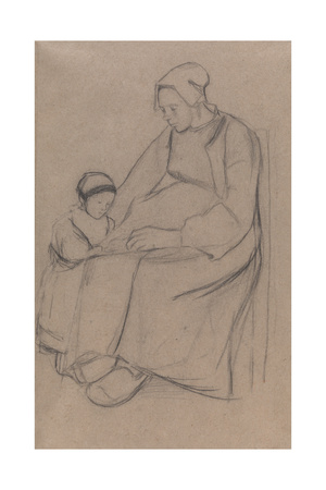 Breton Woman and Child Giclee Print by Arthur Studd