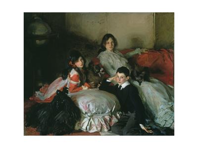 Essie, Ruby and Ferdinand, Children of Asher Wertheimer Giclee Print by John Singer Sargent