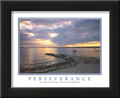 Perseverance Any Dream Worth Having Motivational Art