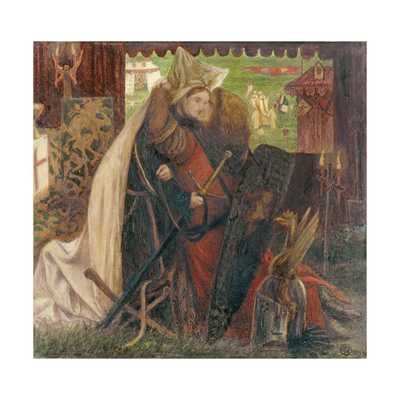 The Chapel before the Lists Giclee Print by Dante Gabriel Rossetti