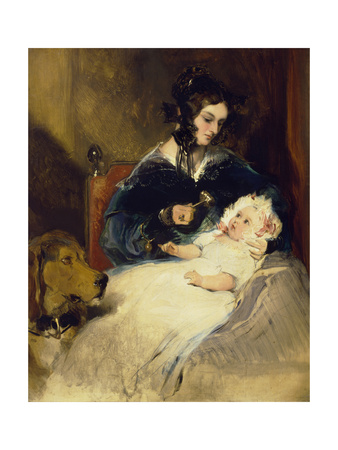 The Duchess of Abercorn and Child Giclee Print by Edwin Henry Landseer