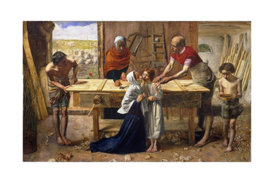 Christ in the House of His Parents (The Carpenter's Shop) Giclee Print by John Everett Millais
