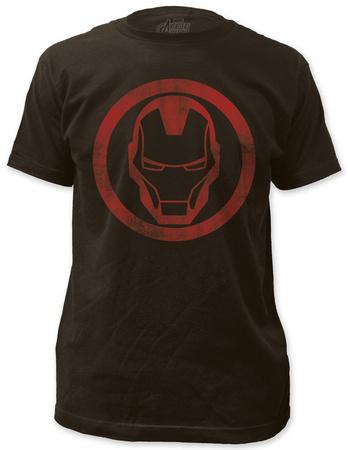 Iron Man - distressed icon T-shirts